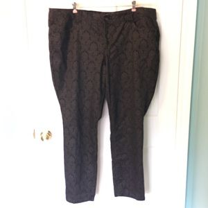 Wit & Wisdom Jean Plus Size Skinny 24 Black Damask